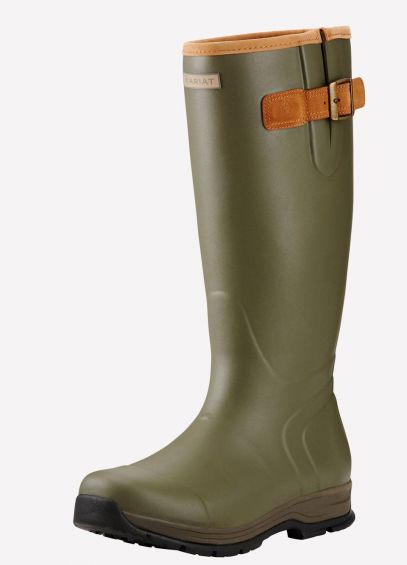 Ariat Men's Burford Insulated Wellingtons - Olive Green