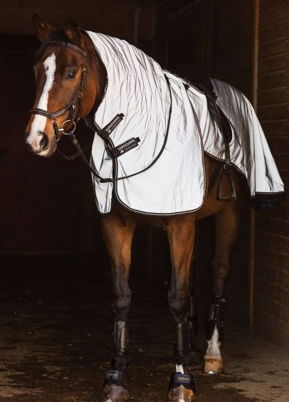 Horseware Night Rider Rug - Silver/Black