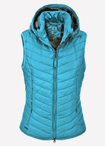 Pikeur Ladies Libell Quilted Waistcoat - Caribbean
