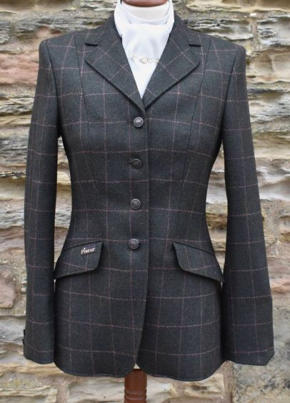 Pikeur Ladies Epsom Tweed Competition Jacket - Dark Green