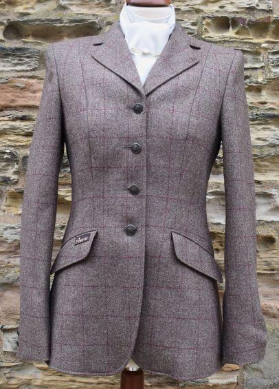 Pikeur Ladies Epsom Tweed Competition Jacket - Burgundy Check