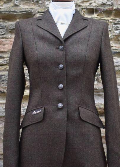 Pikeur Ladies Epsom Tweed Competition Jacket - Dark Brown
