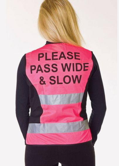 HyVIZ Waistcoat - Please Pass Wide & Slow - Pink