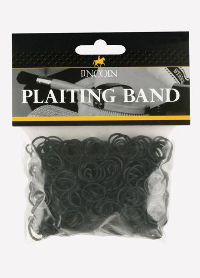 Lincoln Plaiting Bands - Black