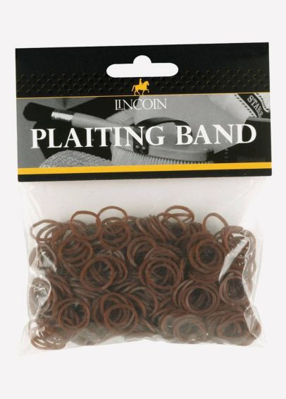 Lincoln Plaiting Bands - Brown