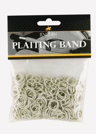 Lincoln Plaiting Bands - White