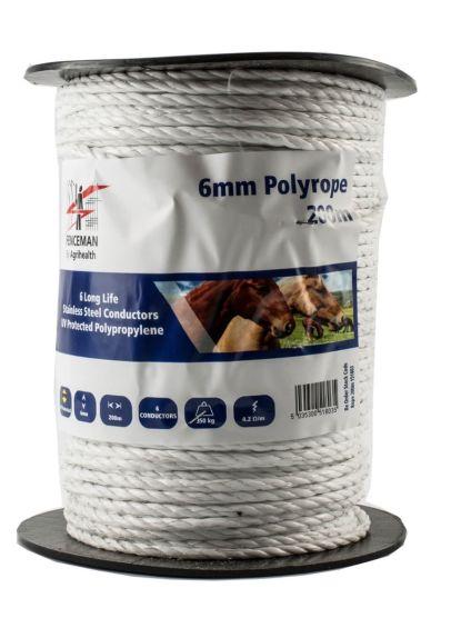 Agrihealth Fenceman 200m Polyrope - 6mm
