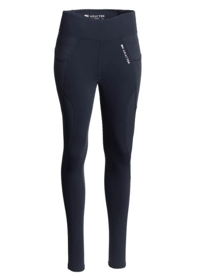 Ariat Womens Prevail Insulated Full Seat Tights - Navy Reflective