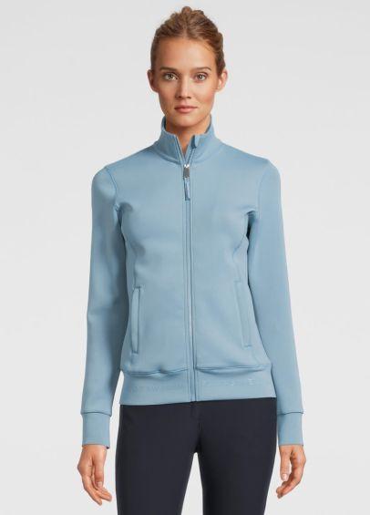 PS of Sweden Faith Zip Sweater - Aqua