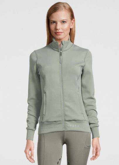 PS of Sweden Faith Zip Sweater - Thyme
