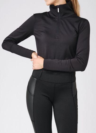 PS of Sweden Grace Half Zip Sweater - Black