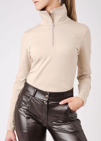 PS of Sweden Grace Half Zip Sweater - Latte