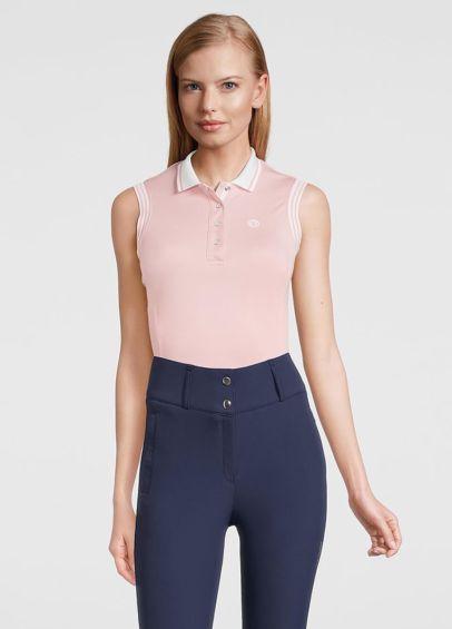 PS of Sweden Minna Sleeveless Polo Shirt - Pink