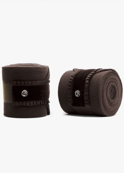 PS of Sweden Ruffle Polo Bandages - Coffee