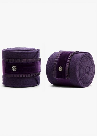 PS of Sweden Ruffle Polo Bandages - Plum