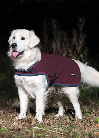 Rambo Waterproof Fleece Dog Rug - Burgundy/Teal/Navy