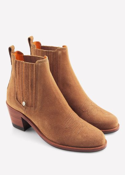Fairfax & Favor Ladies Rockingham Ankle Boots - Tan