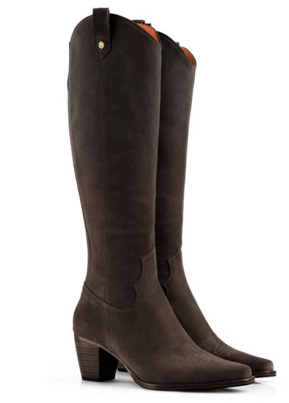 Fairfax & Favor Ladies Rockingham Knee Boots - Chocolate