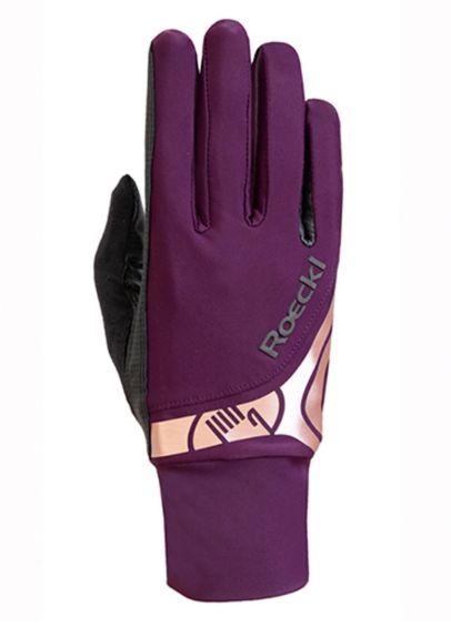 Roeckl Melbourne Gloves - Grape Wine