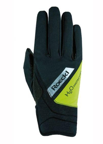 Roeckl Waregem Gloves - Black/Yellow