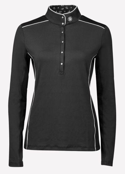 Dublin Ladies Sadie Long Sleeve Competition Shirt - Black