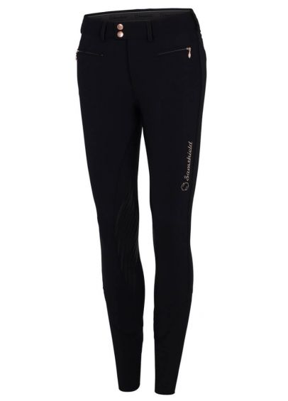 Samshield Ladies Adèle Breeches - Black/Pink Gold