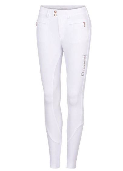 Samshield Ladies Adèle Breeches - White/Pink Gold