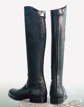 Sarm Hippique 1650 Leather Riding Boots - Black