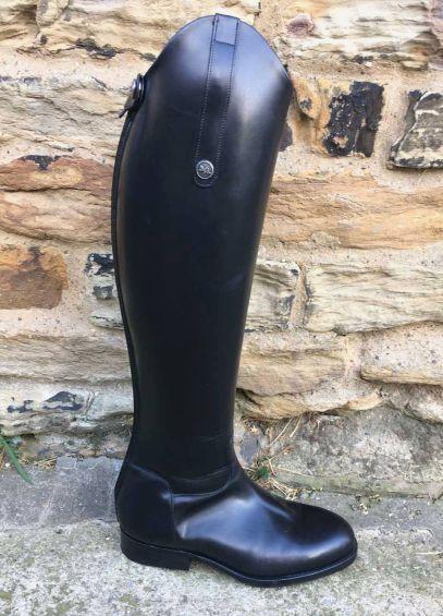 Sarm Hippique 500 Leather Riding Boots - Black
