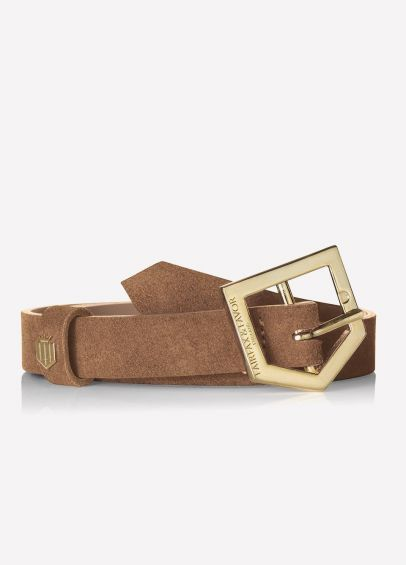 Fairfax & Favor Sennowe Suede Belt - Tan