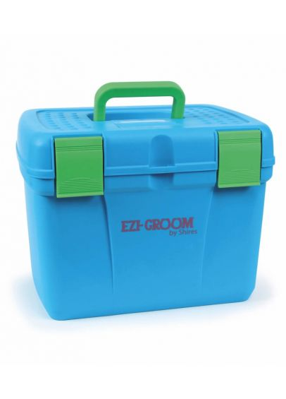 Shires EZI-GROOM Deluxe Grooming Box - Bright Blue