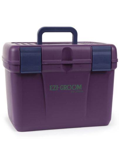 Shires EZI-GROOM Deluxe Grooming Box - Plum