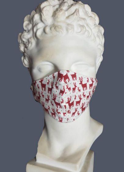 Spartan Cotton Face Cover - Reindeer