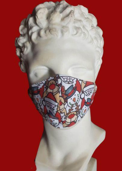 Spartan Cotton Face Cover - Rudolf/Snowman