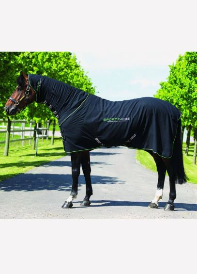 Sportzvibe Therapy Horse Rug - Black Green