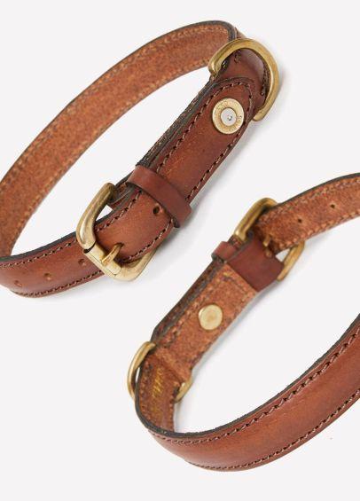 Hickes & Hides Stanway Tip Field Dog Collar - Cognac