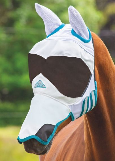 Shires Sun Shade Fly Mask - White
