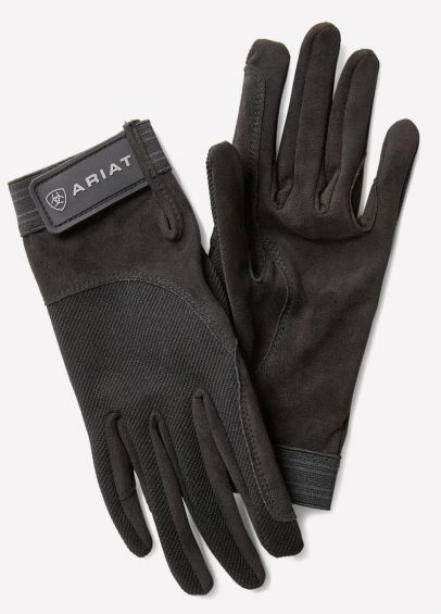 Ariat Tek Grip Gloves - Black/Grey