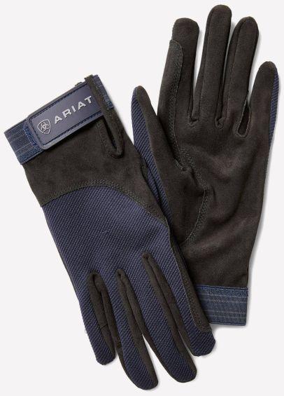 Ariat Tek Grip Gloves - Navy/Grey