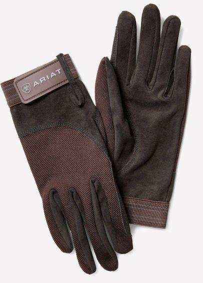 Ariat Tek Grip Gloves - Brown/Grey