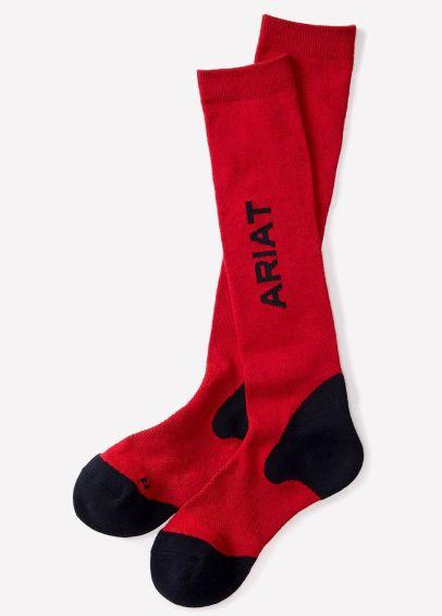 Ariat Tek Performance Socks - Navy/Red