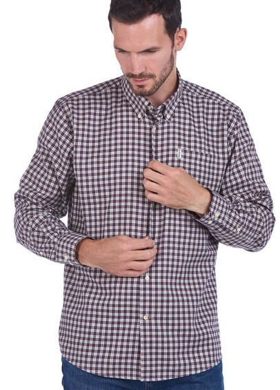 Barbour Thornley Thermo Weave Shirt - Red