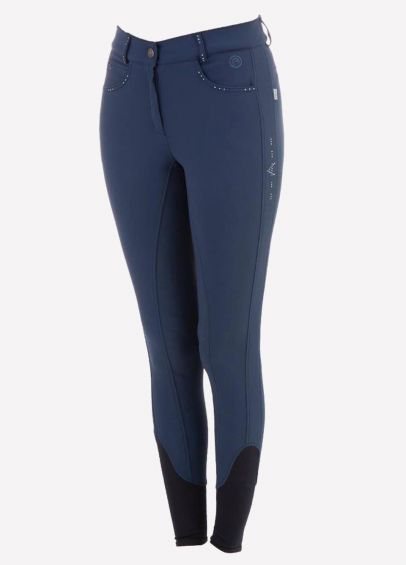 Anky Ladies Victory Silicone Seat Breeches - Ink Blue