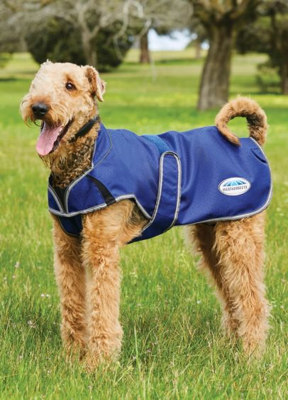 Weatherbeeta ComFITec Premier Free Parka Deluxe Dog Coat Medium - Dark Blue/Grey/White