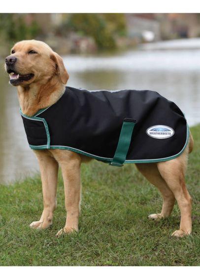 Weatherbeeta Green-Tec 900D Dog Coat Medium - Black/Bottle Green