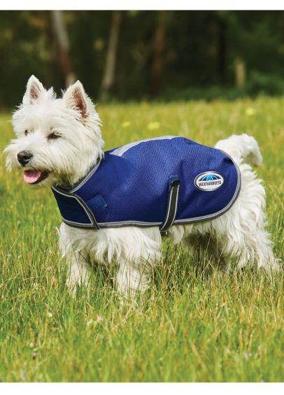 Weatherbeeta ComFITec Premier Free Parka Dog Coat Medium - Dark Blue/Grey/White
