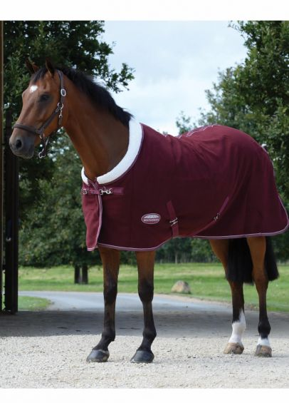 Weatherbeeta  Sherpa Fleece Cooler - Maroon/White
