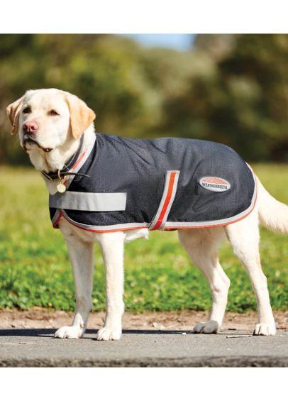 Weatherbeeta ComFITec 1200D Therapy-Tec Dog Coat - Black/Silver/Red
