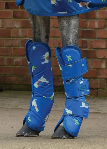 Weatherbeeta Wide Tab Long Travel Boots - Llama