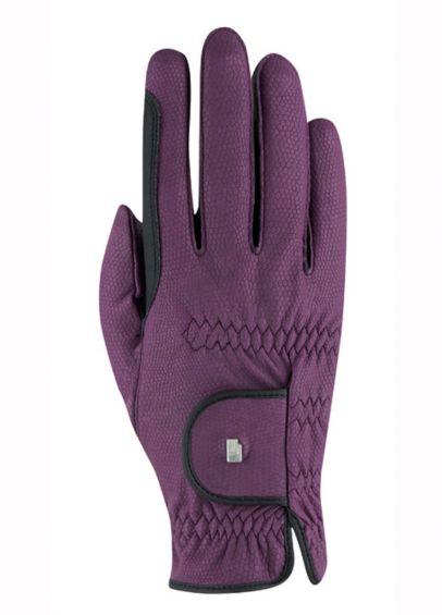 Roeckl Malta Two Tone Winter Chester Gloves - Grape Wine